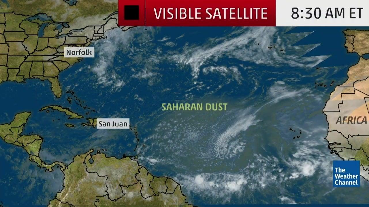 hazy skies in the caribbean thanks to saharan desert dust