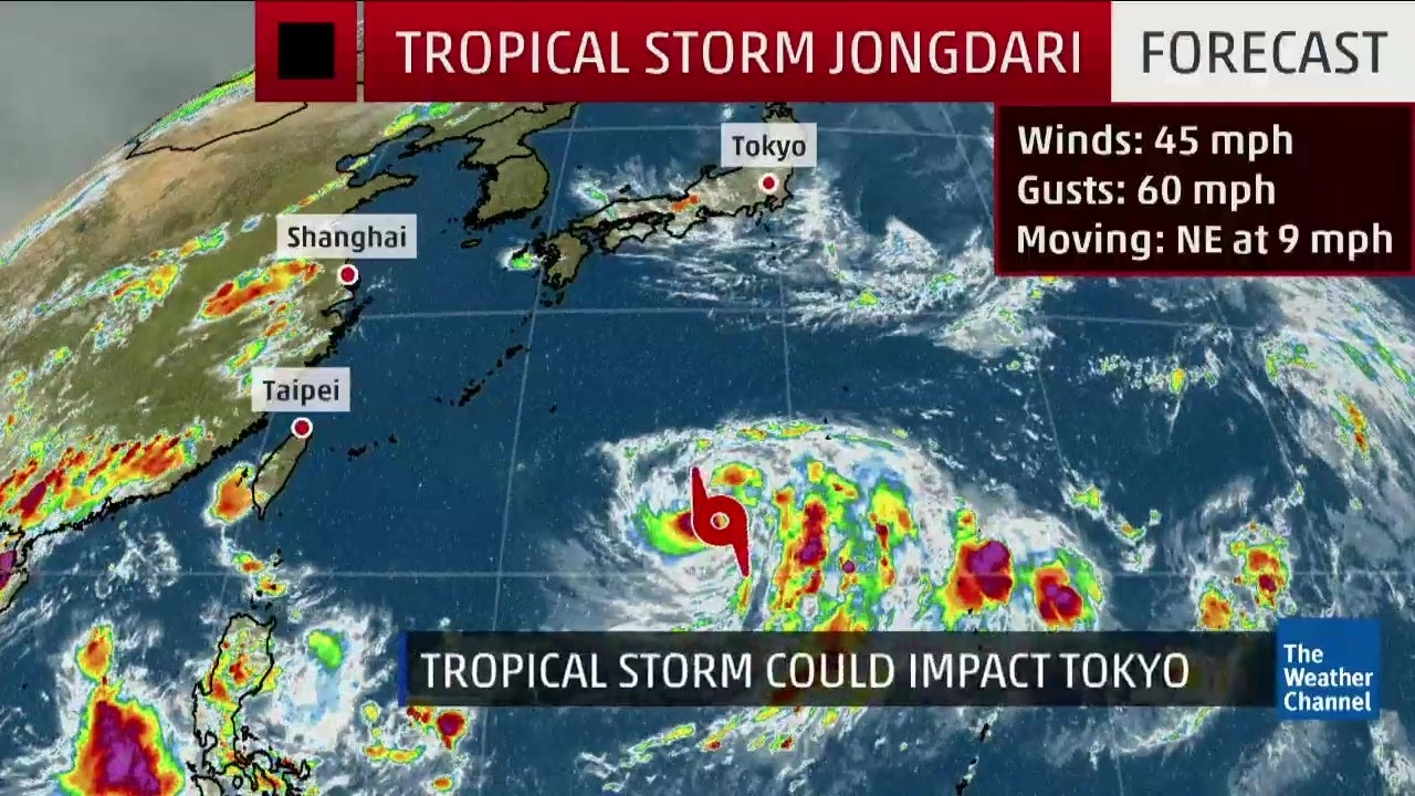 Tropical Storm Jongdari Could Impact Tokyo The Weather Channel