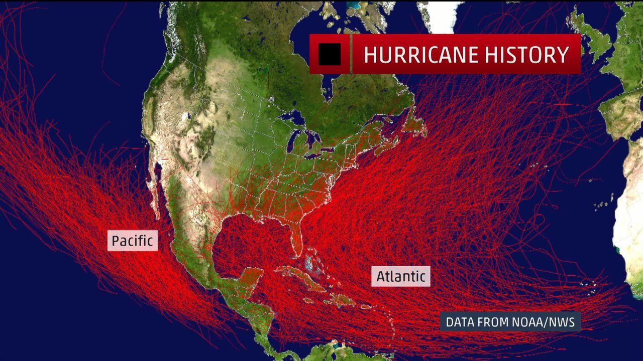 every hurricane since 1851