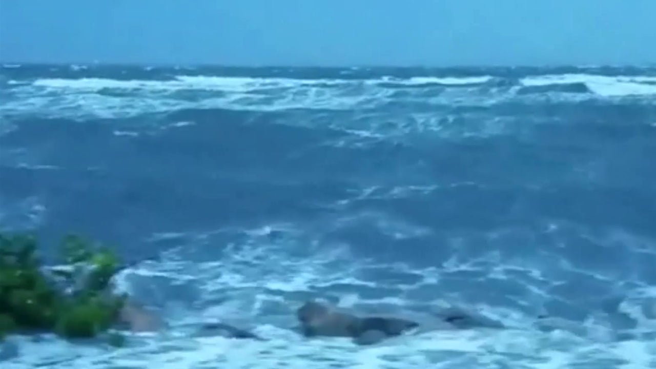 Waves Sweep Over Road In Tampa Fl The Weather Channel