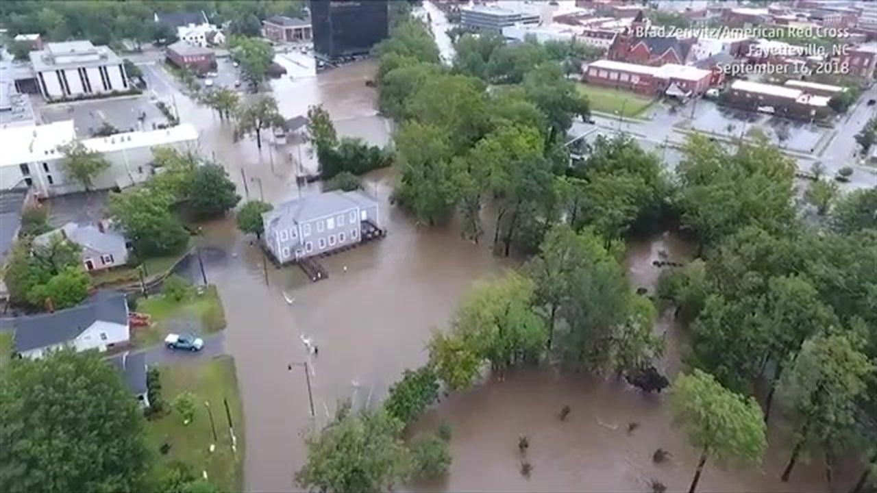 Inundaciones en Fayetteville, N.C.