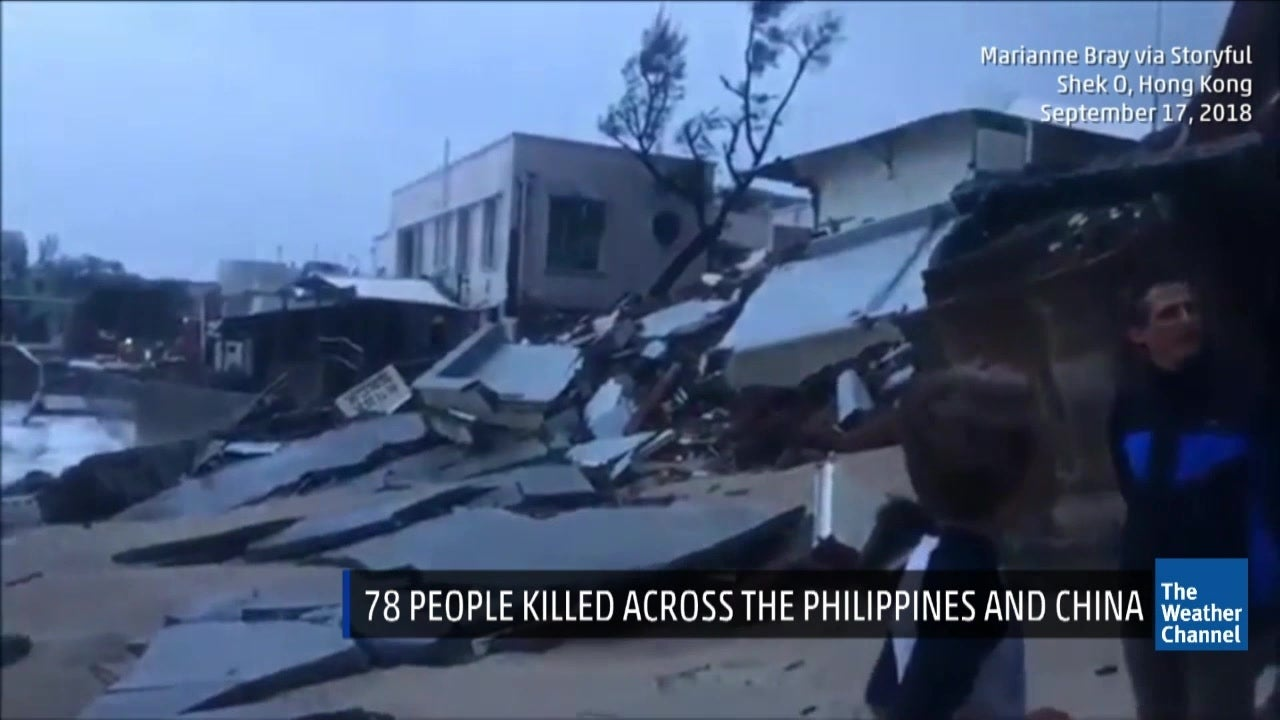 Death Toll Rises to at Least 78 from Typhoon Mangkhut