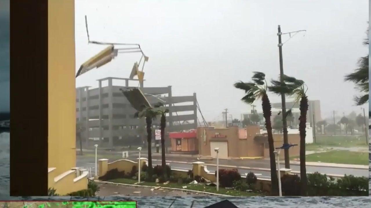 Debris Falls As Matthew Passes Daytona Beach The Weather Channel