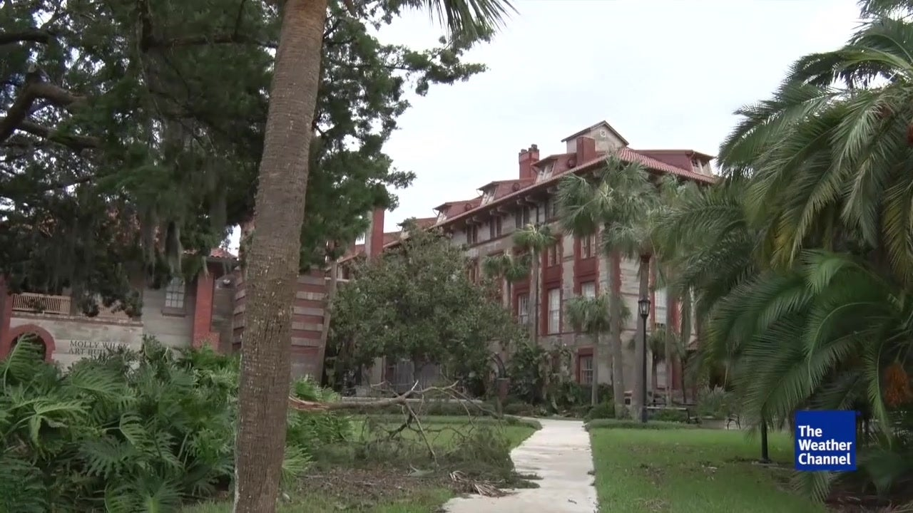 damage at flager college in st  augustine from matthew