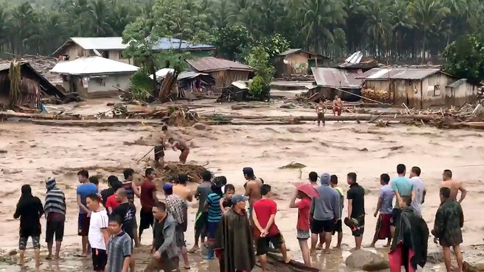 dozens dead in philippines typhoon the weather channel. Black Bedroom Furniture Sets. Home Design Ideas