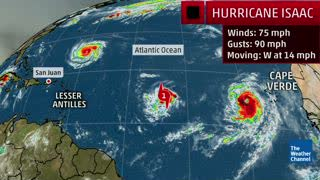 Hurricane Isaac Poses A Threat To The Lesser Antilles Late