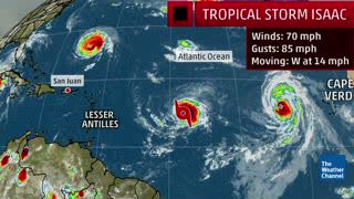 Tropical Storm Isaac Marches Towards the Caribbean | The Weather