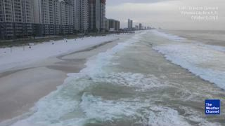 High Surf Pounds Empty Panama City Beach Ahead Of Hurricane Michael The Weather Channel