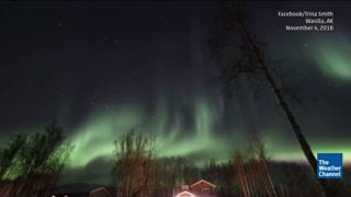 Alaska Northern Lights Show Caught on Satellite Image