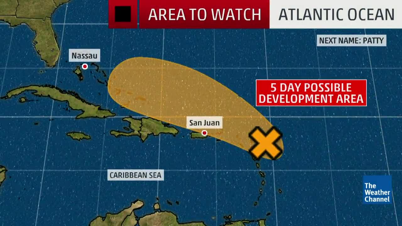 Chance of Development in the Atlantic for Invest 96L