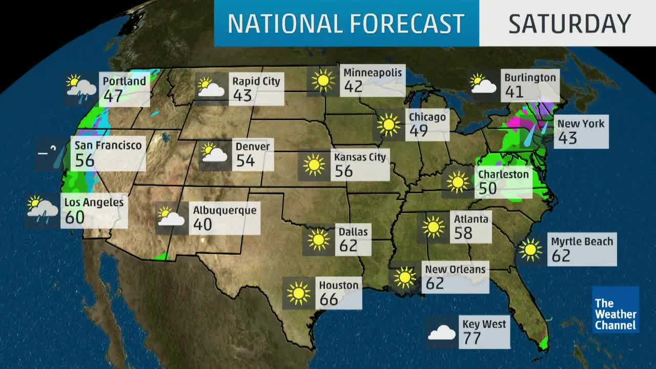 National Weather Map For Tomorrow National Forecast   Videos from The Weather Channel | weather.com