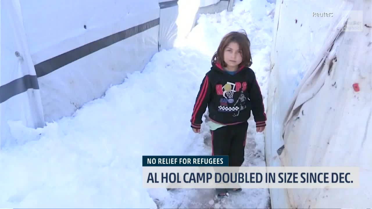 syrian refugee camp struggles amid bitter cold