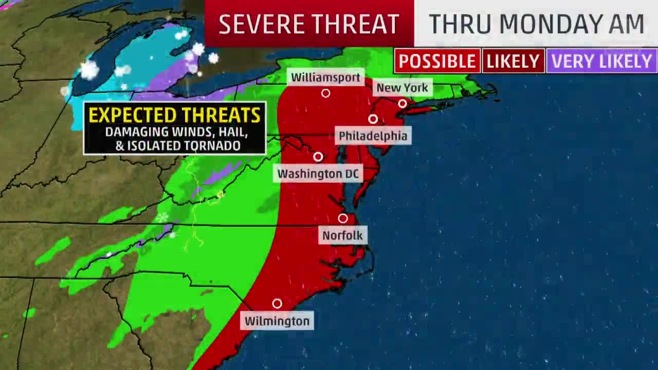dangerous storms for i