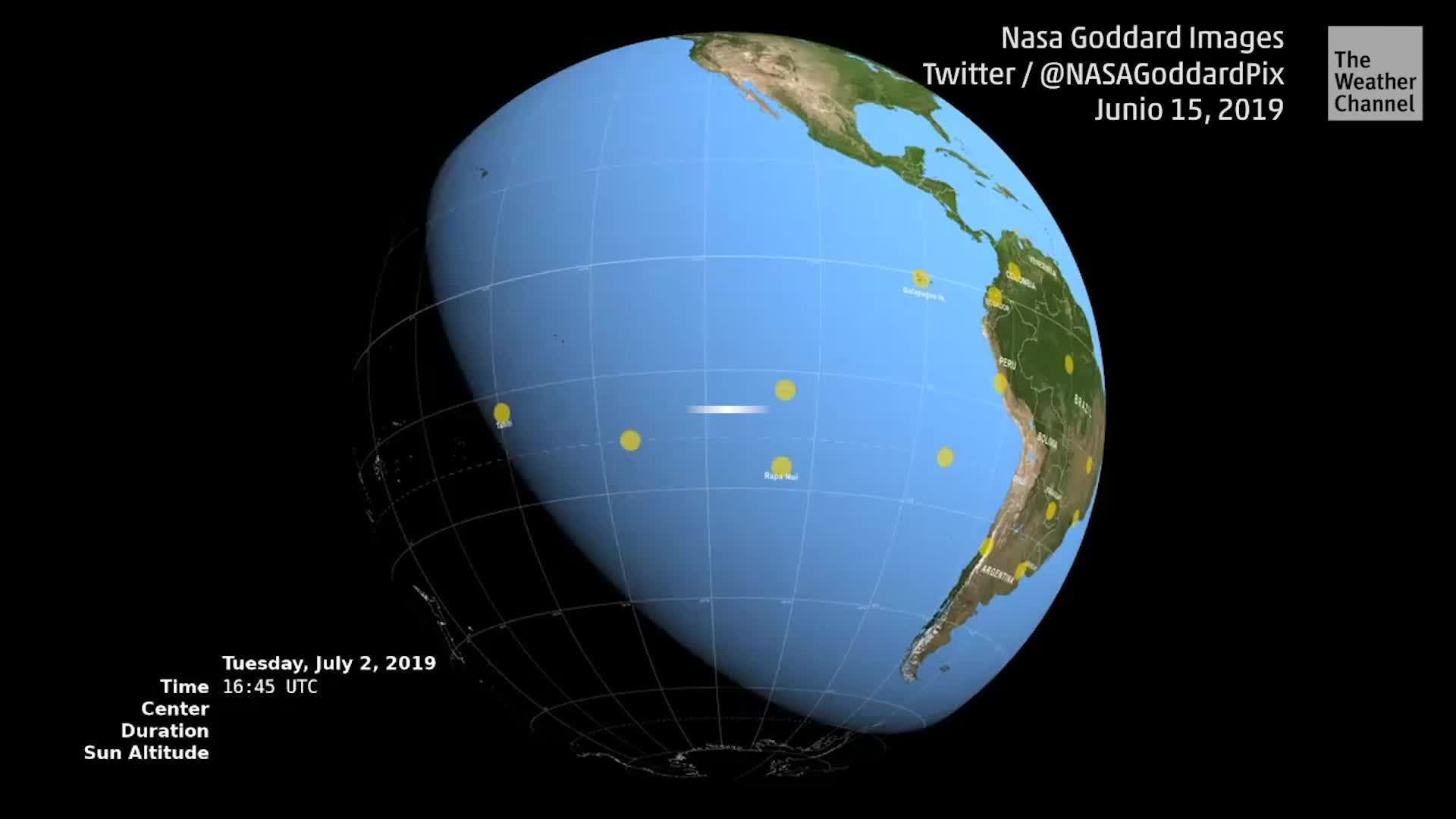 Eclipse total do sol na Argentina e Chile