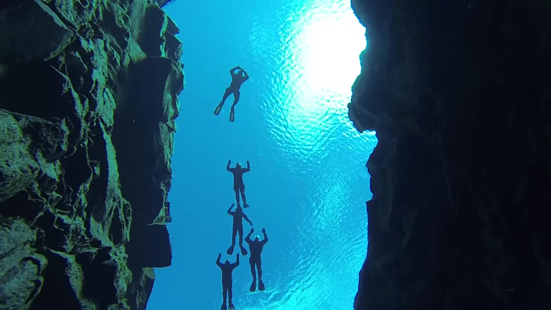 There's a stunning spot in Iceland where divers can swim between two continents -- even touch both of them at once.