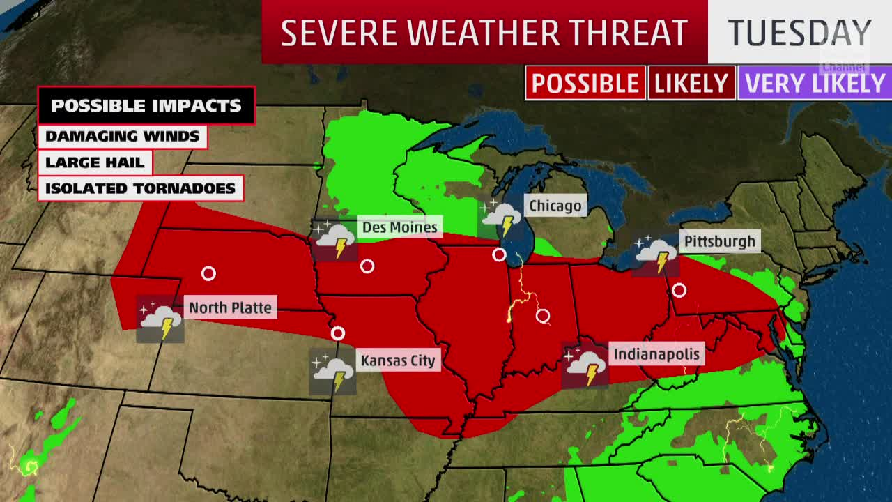 Severe Weather Threatening the Midwest