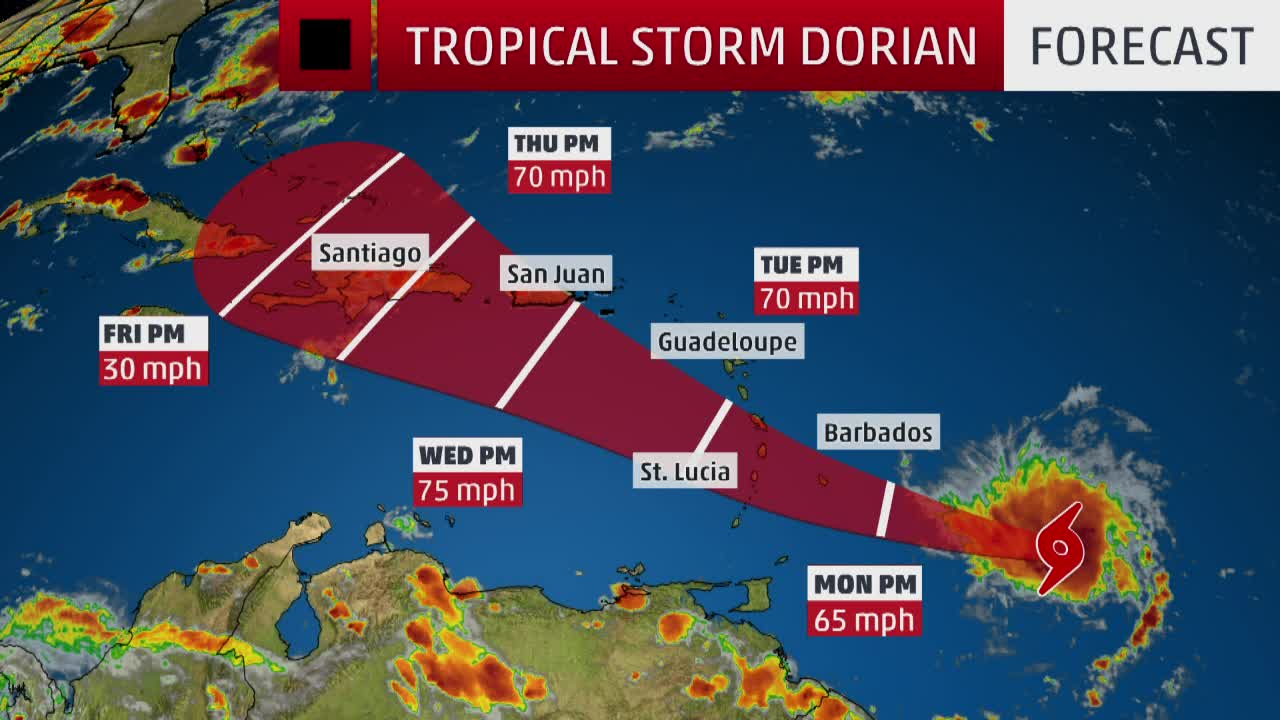 Resultado de imagen para Dorian Tropical Storm