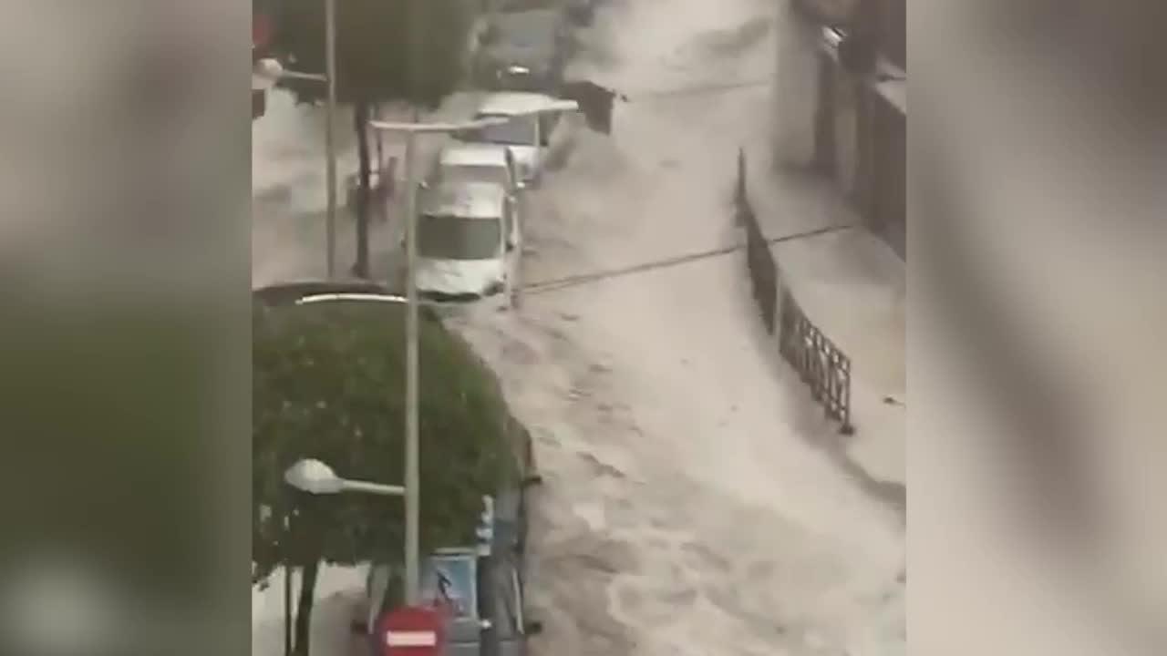 Bildergebnis für hailstorm in madrid images