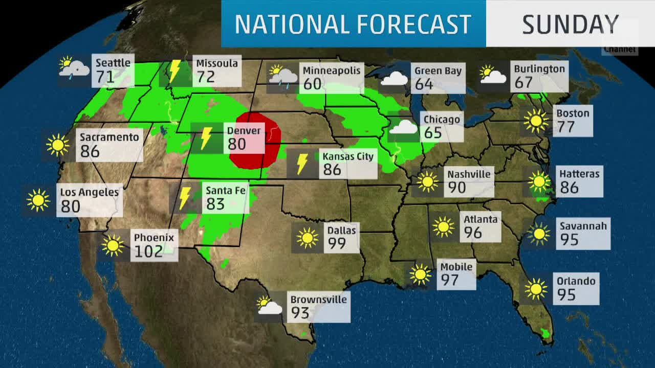 USA National Forecast - weather com