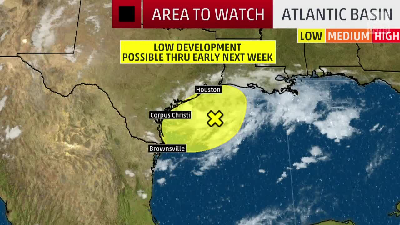Gulf Disturbance to Bring Heavy Rain and Flood Risk to Parts of Texas
