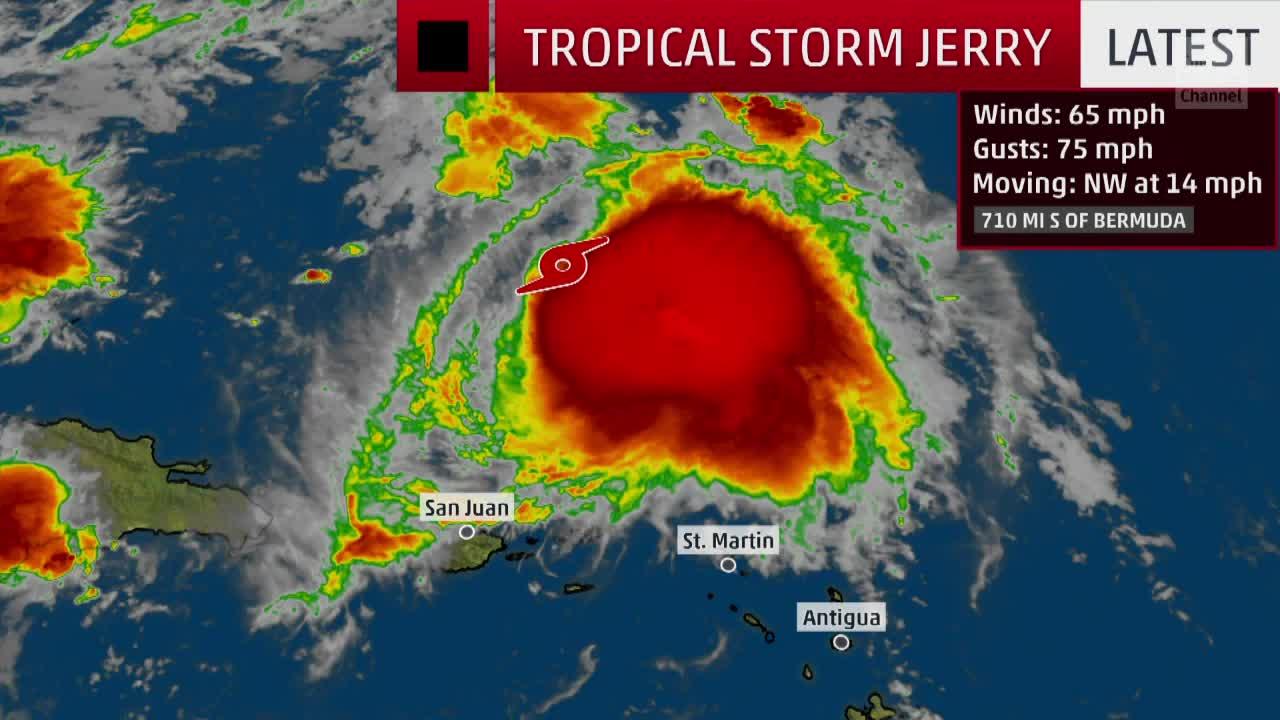 Tropical Storm Jerry Forecast to Move Close to Bermuda