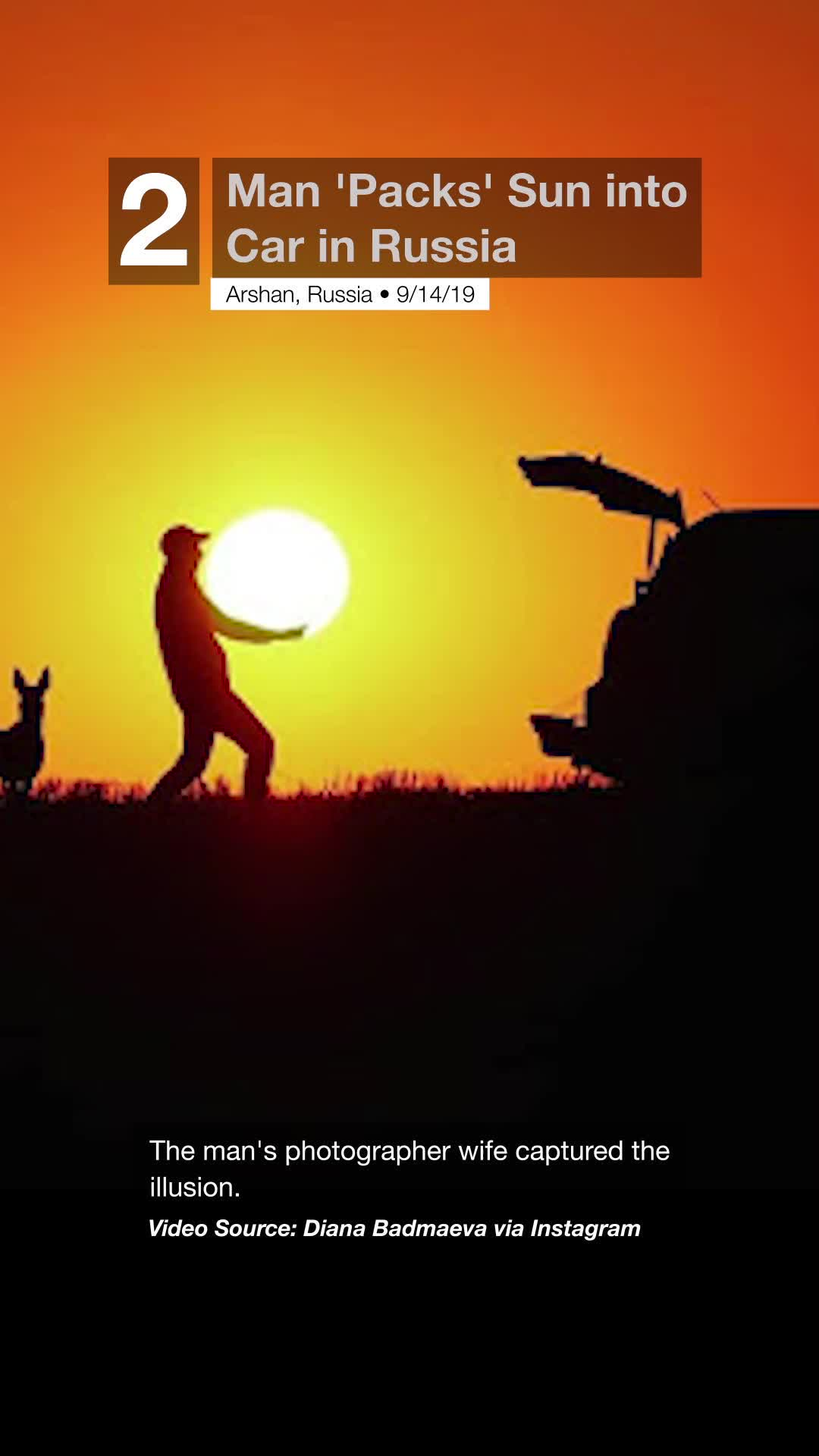 Man 'Packs' Sun into Car in Russia