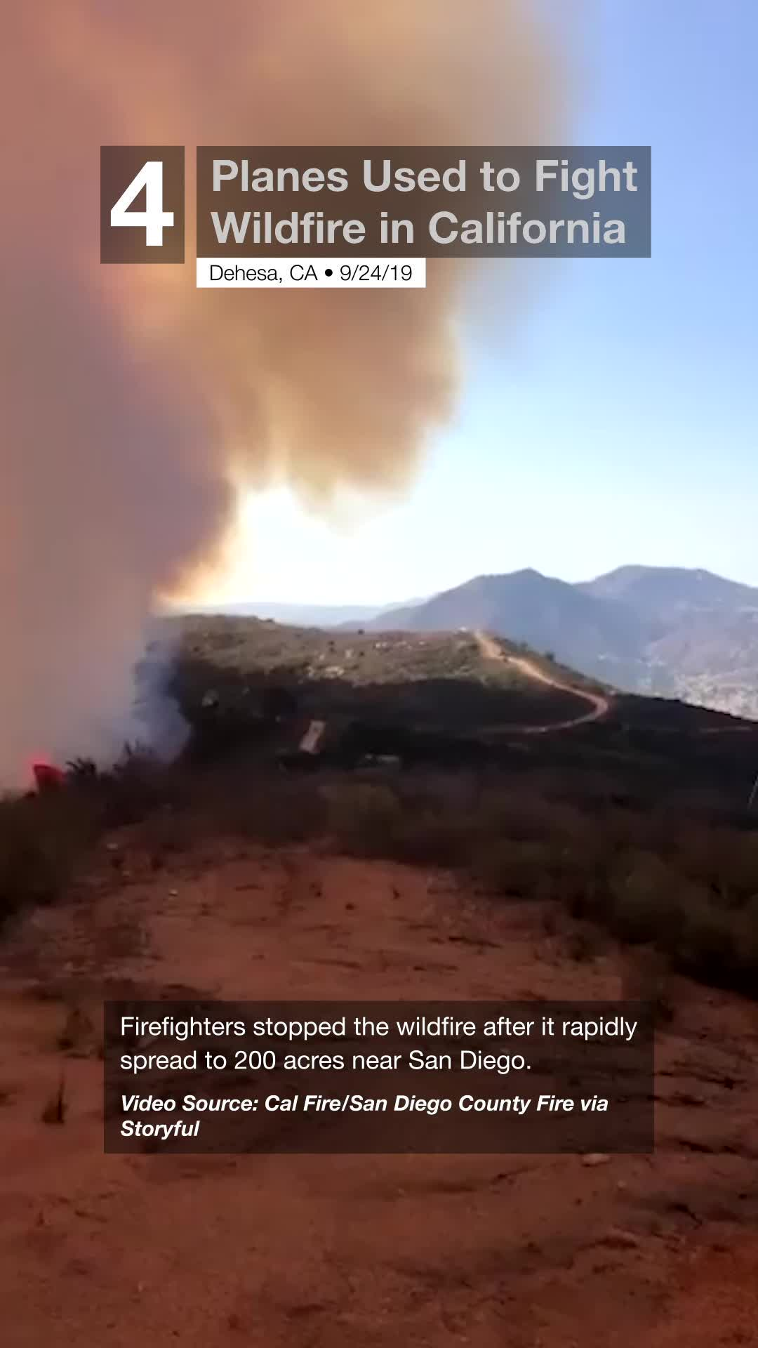 Planes Used to Fight Wildfire in California