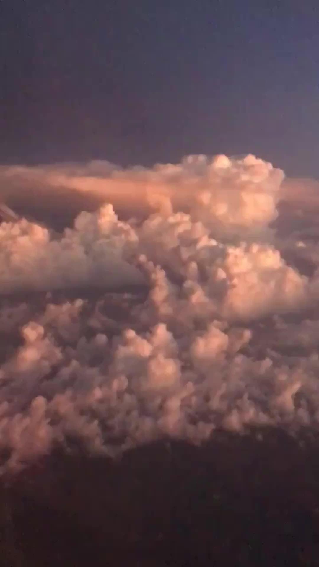 Lightning Seen From Plane Over Nebraska