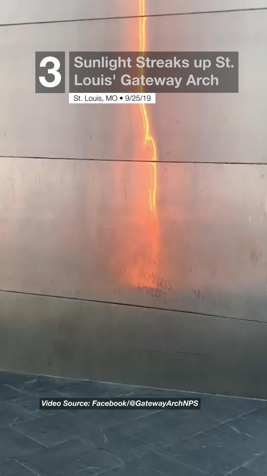 Sunlight Streaks up Gateway Arch