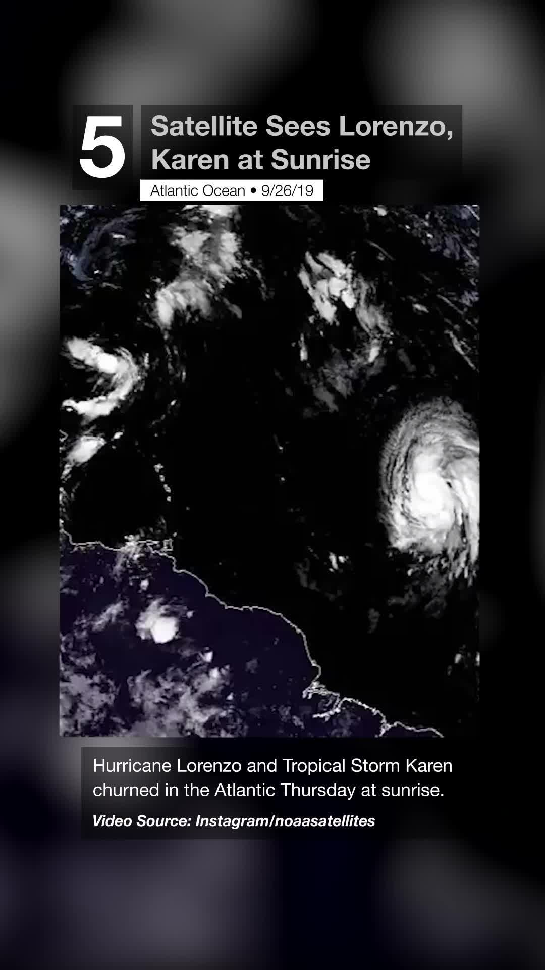Satellite Sees Lorenzo, Karen at Sunrise