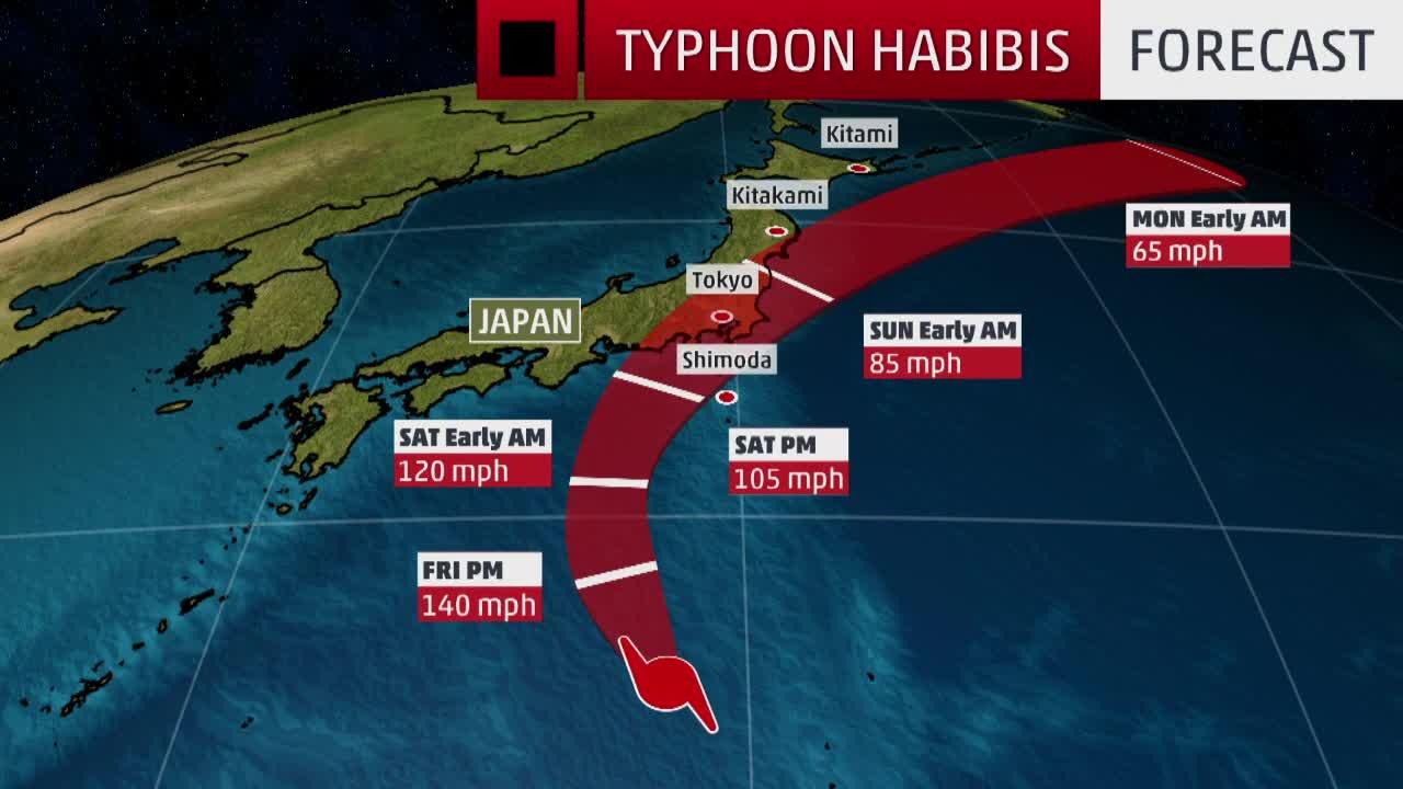 Resultado de imagen para typhoon Hagibis map