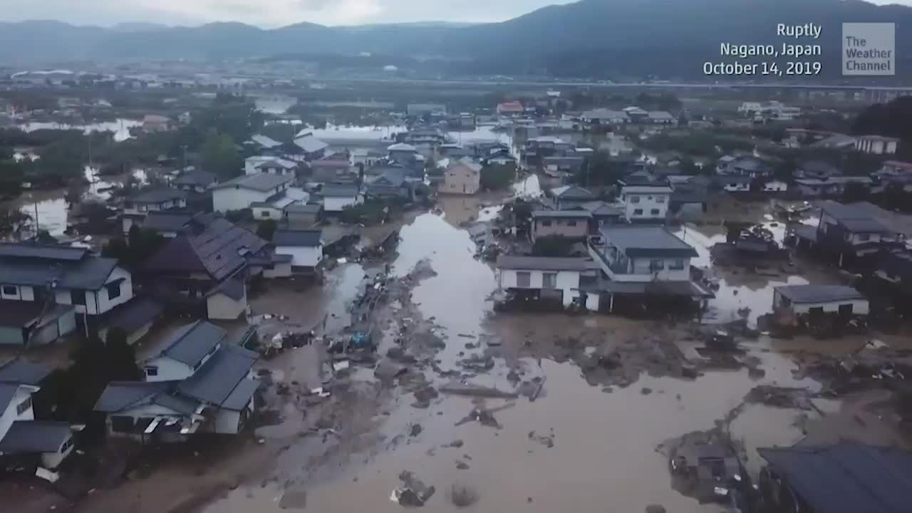 Meteorologist Heather Tesch says dozens are dead and many are missing in Japan after Typhoon Hagibis hit the country.