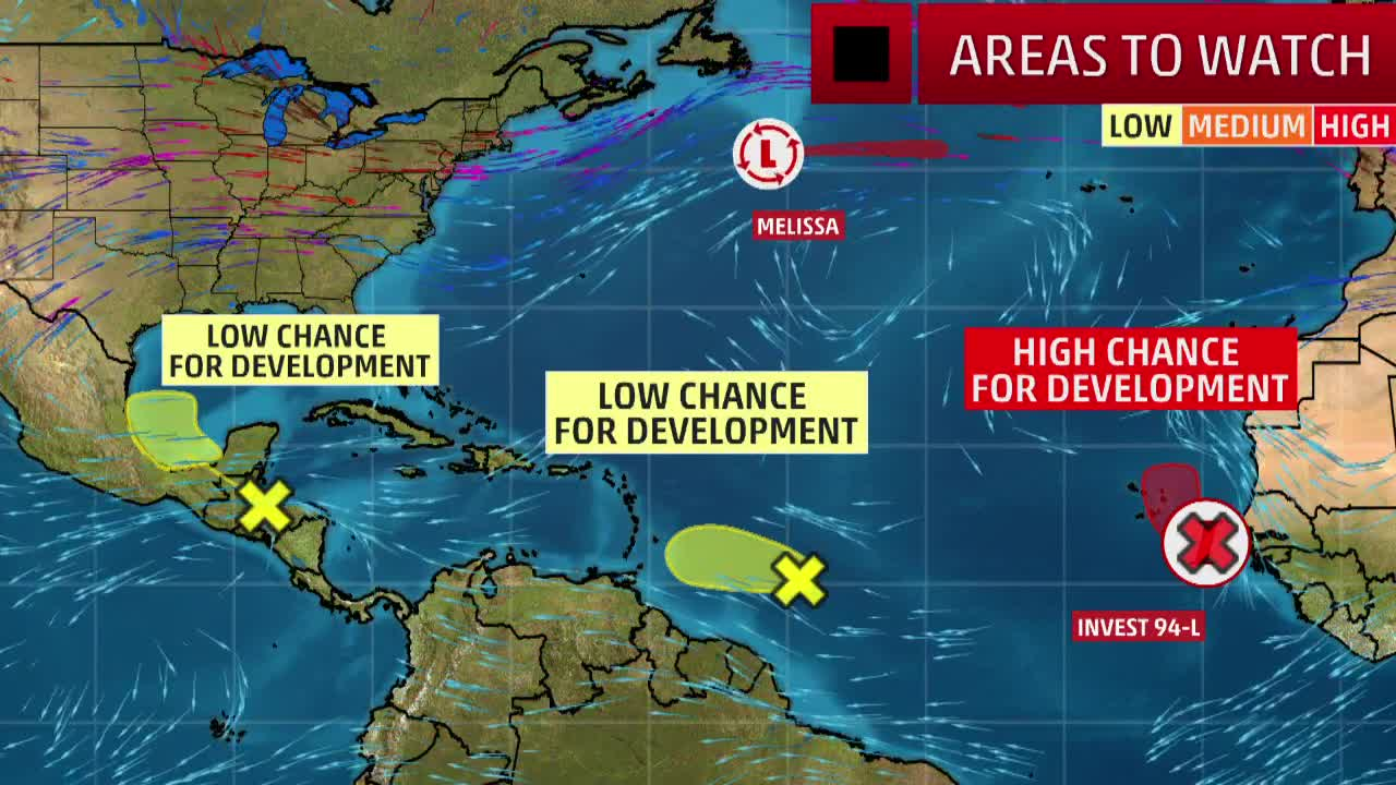 Three Areas Being Monitored for Tropical Development This Week
