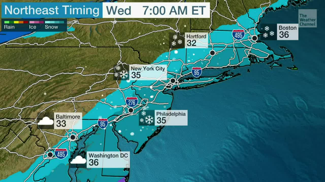 Lluvia Y Nieve Vuelven Al Noreste Videos De The Weather Channel Weather Com