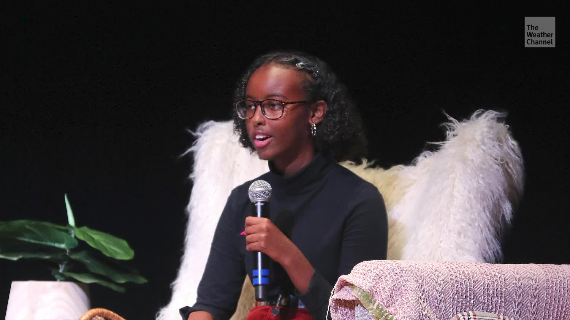 The sixteen year old daughter of Congresswoman Ilhan Omar has already mobilized millions for climate action.