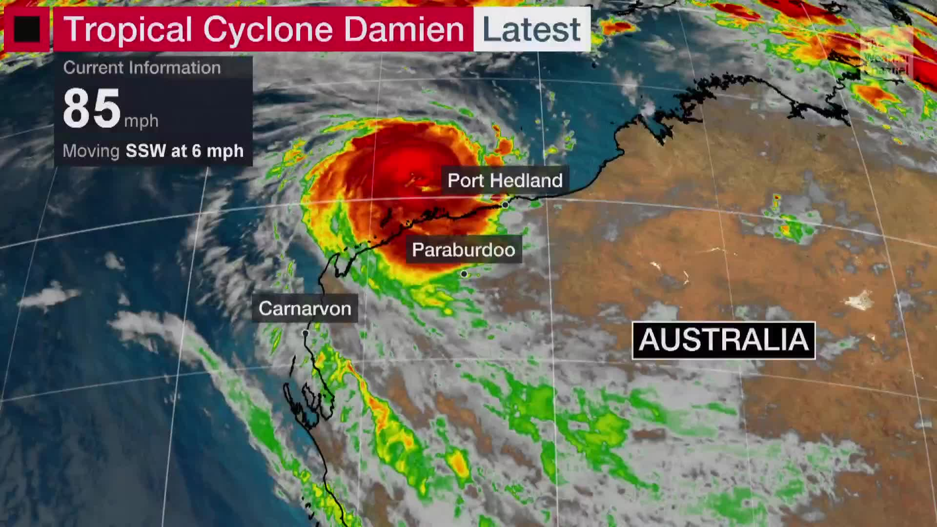 Tropical Cyclone Damien Lashing Western Australia Videos From The Weather Channel Weather Com
