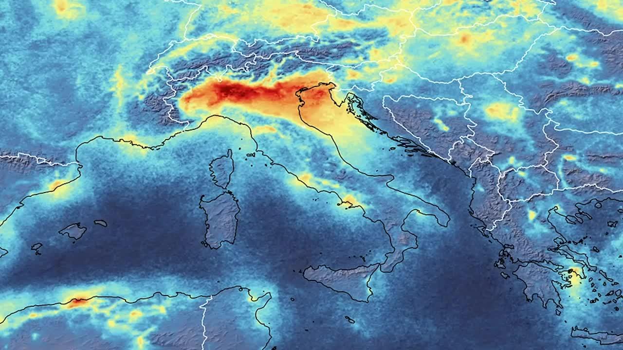 Baja contaminación del aire en Italia por pandemia
