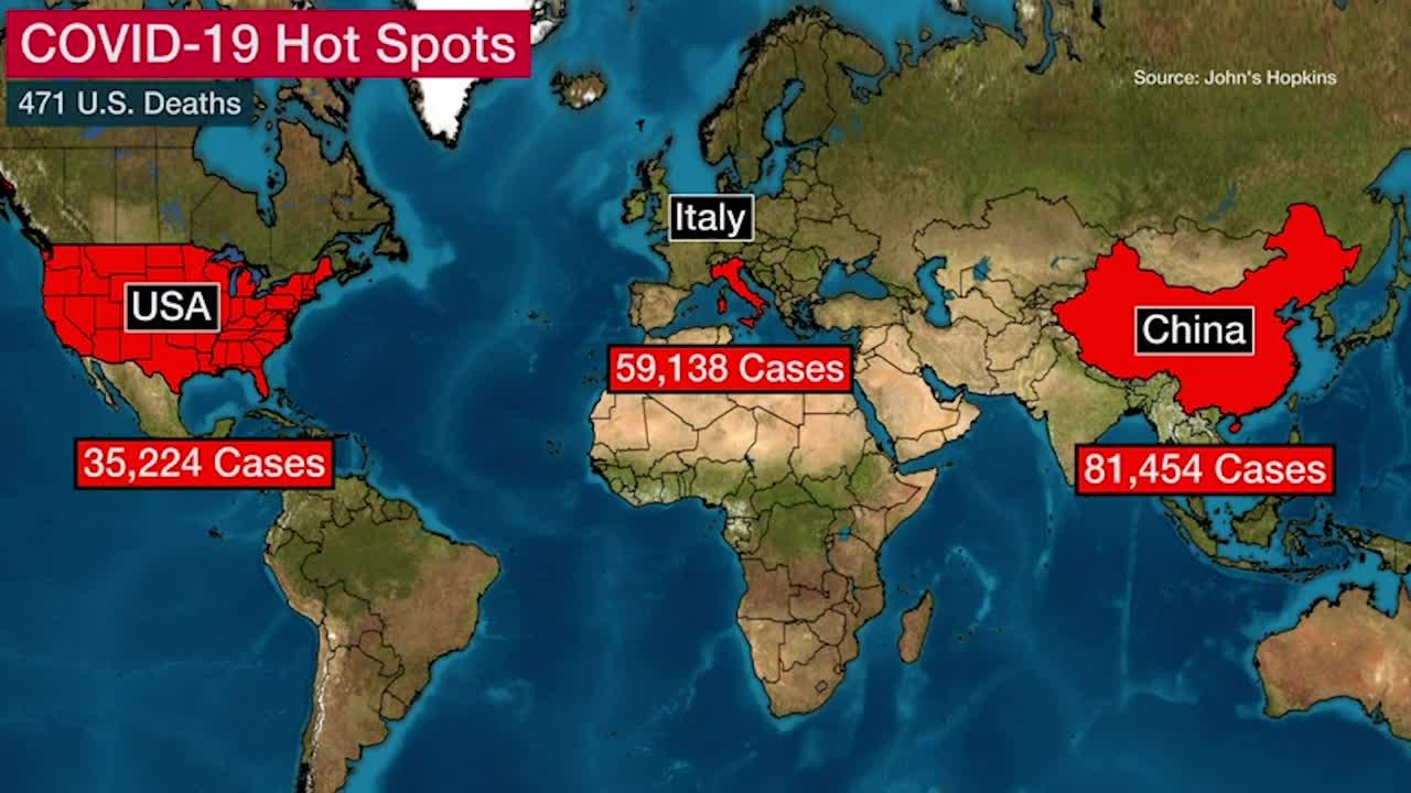 EE. UU: Ayuda estancada mientras casos de coronavirus suben