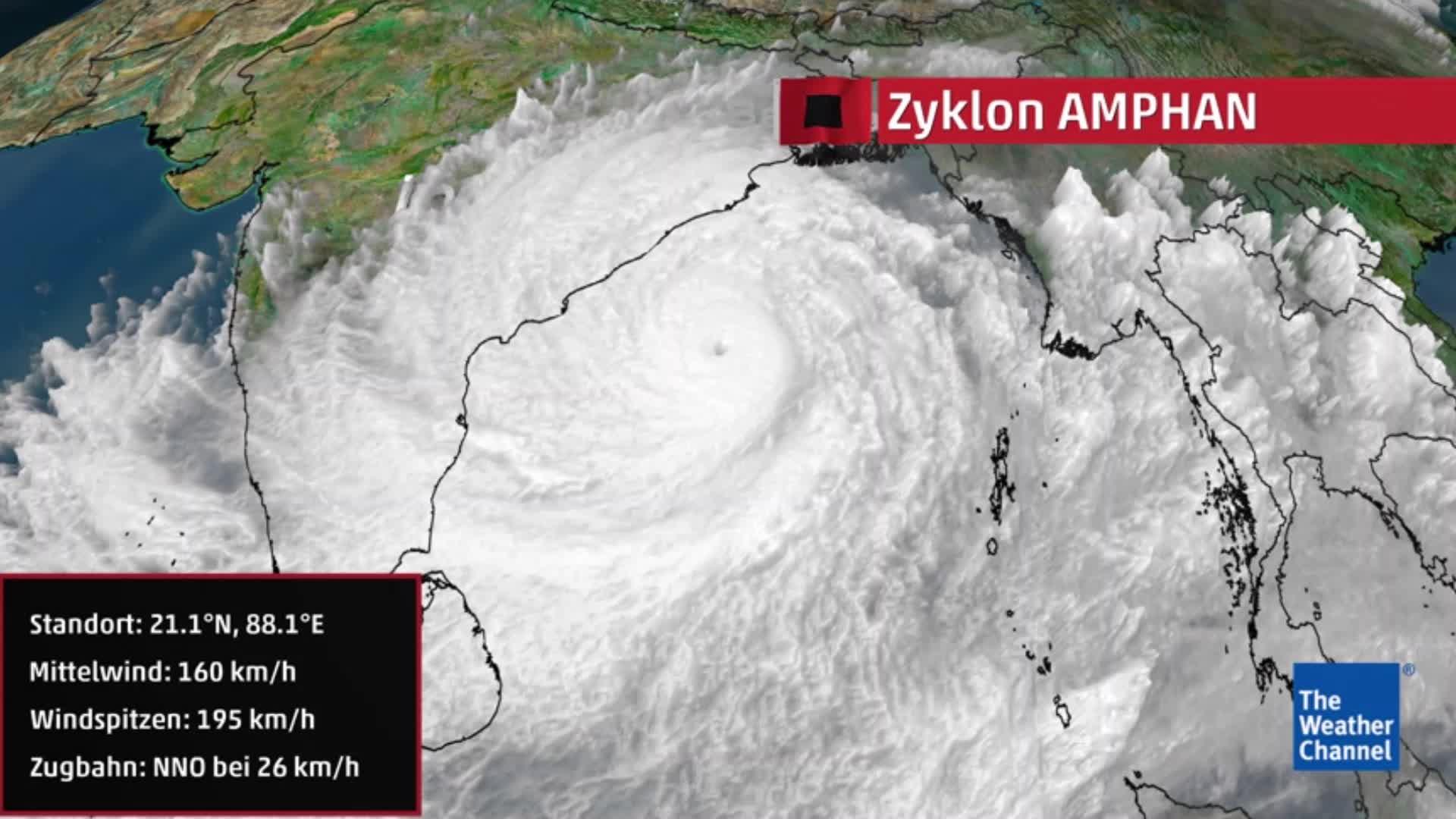 Monster-Zyklon Amphan trifft auf Bangladesh