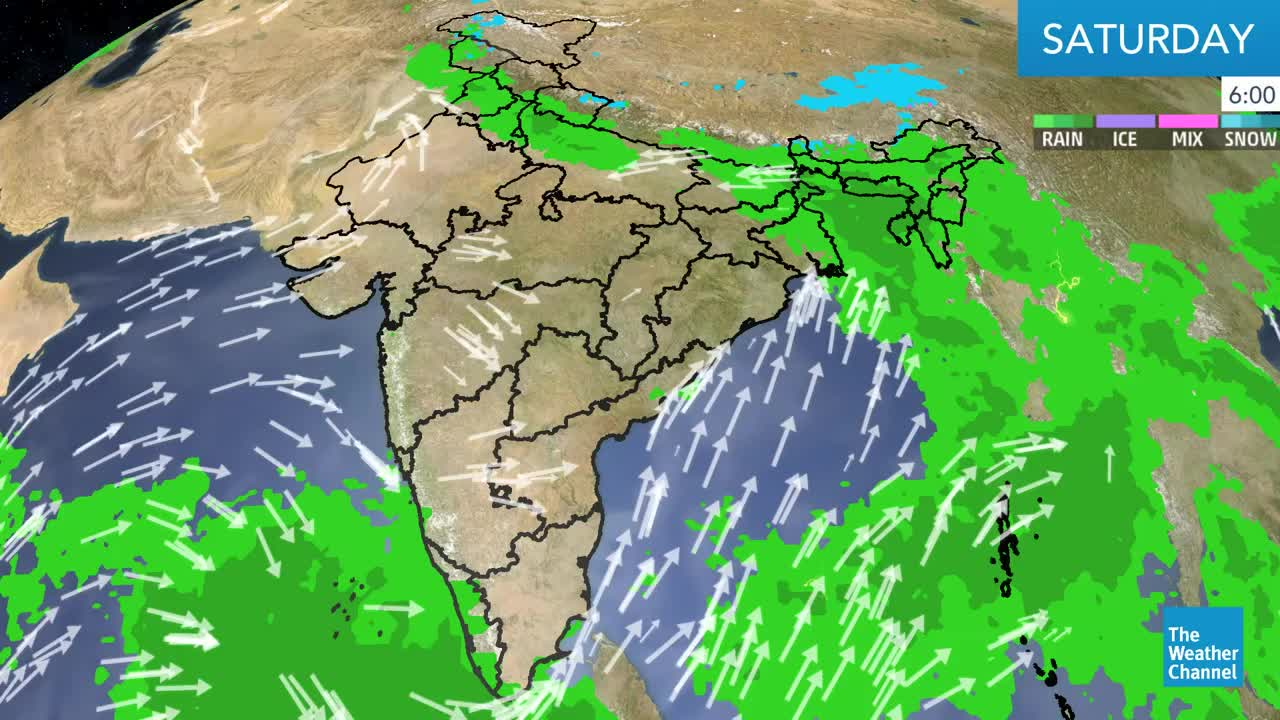 India's weather forecast for the weekend.