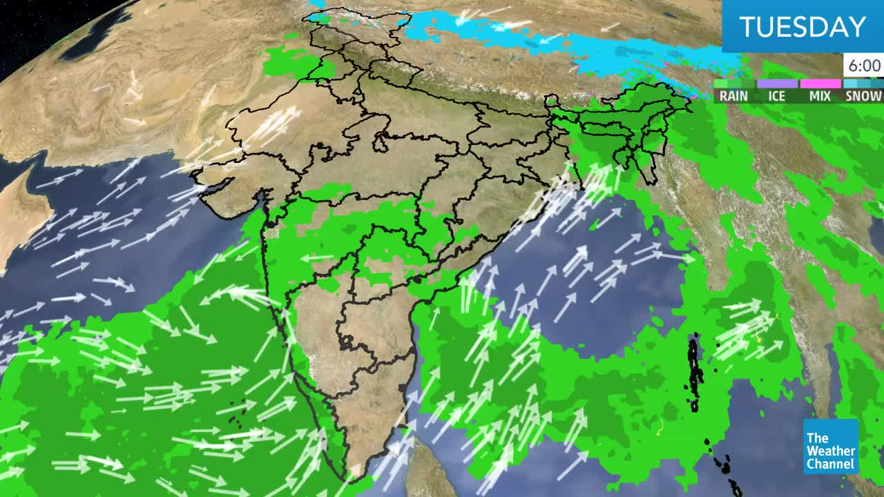 India's weather forecast for Tuesday.