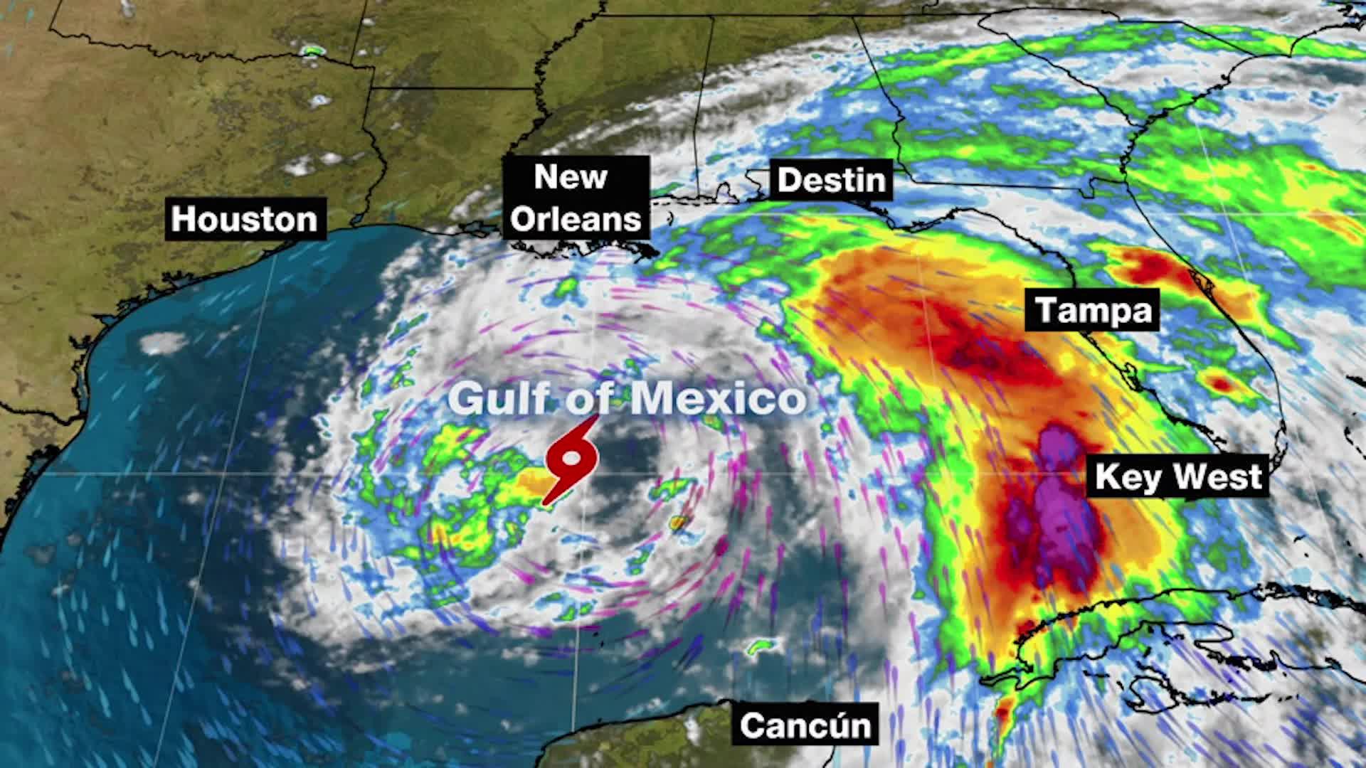 Tormenta Tropical Cristóbal en ruta a Louisiana