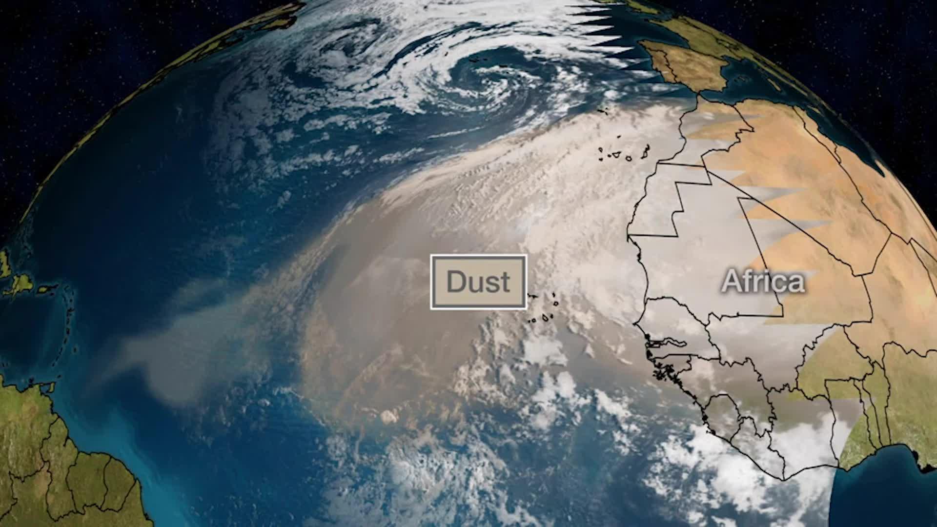 Polvo del Sahara llega de nuevo