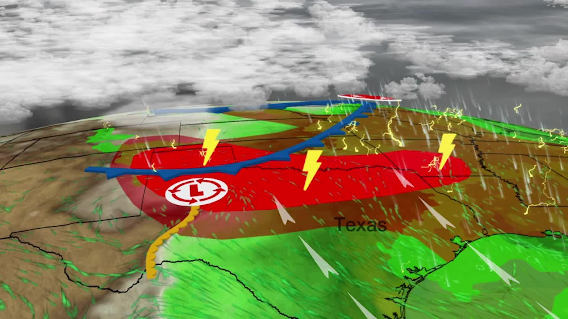 Tormentas severas podrían golpear las llanuras del sur