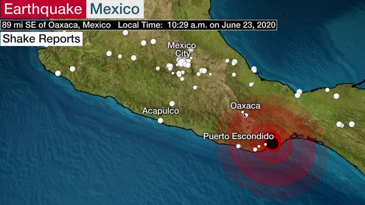 Terremoto de magnitud 7.4 sacude México