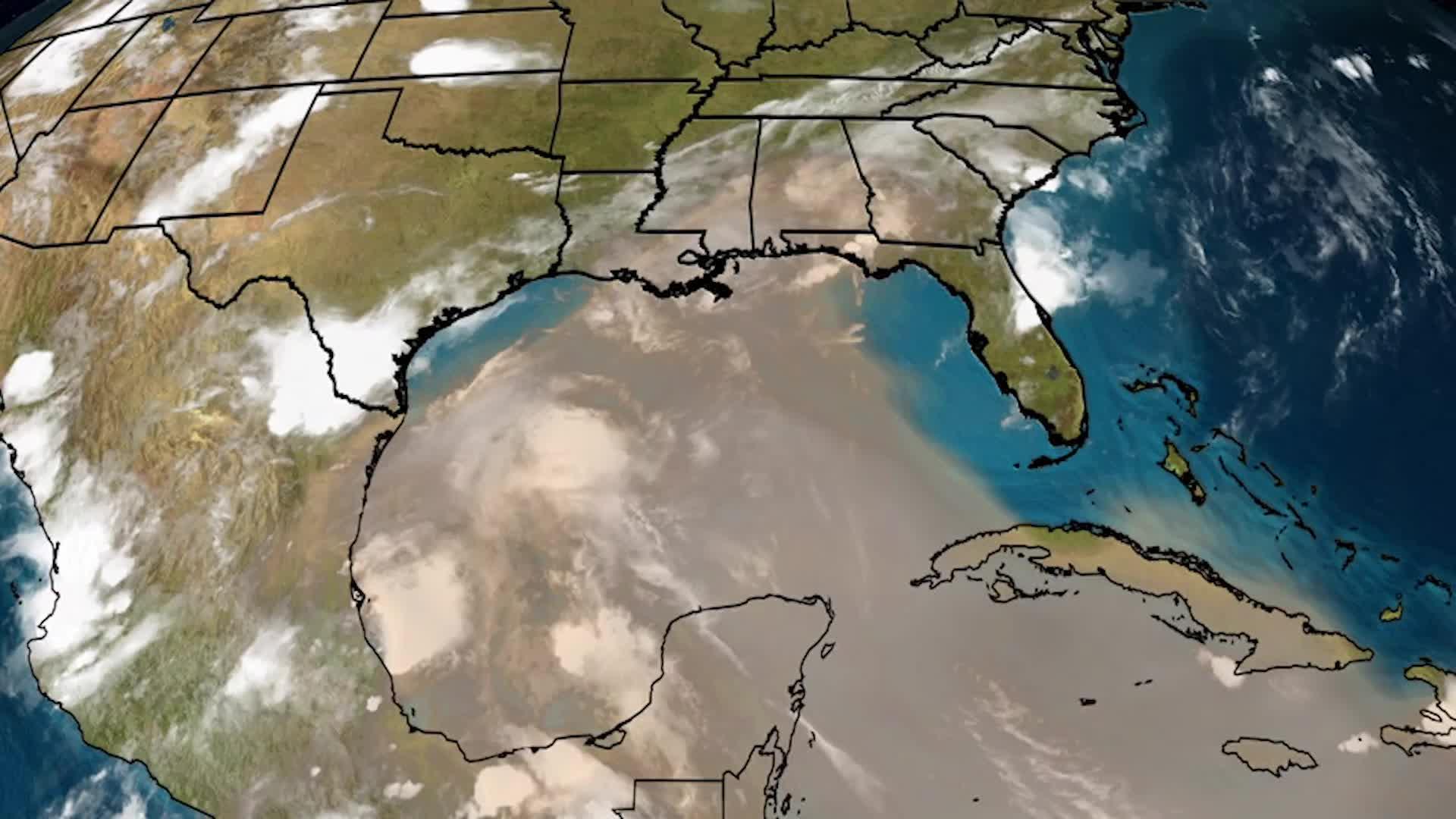La capa de aire sahariana invade la costa del golfo