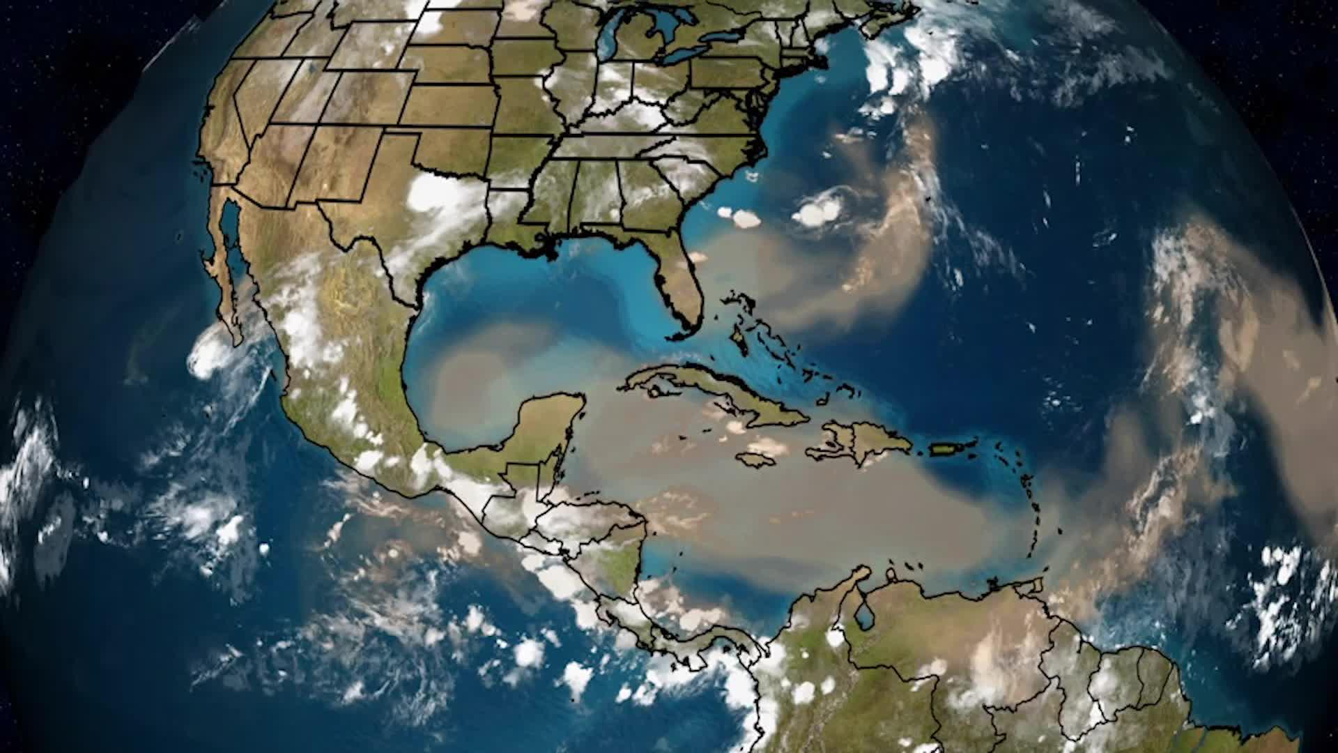 Capa de aire sahariano aún persiste en la costa del Golfo