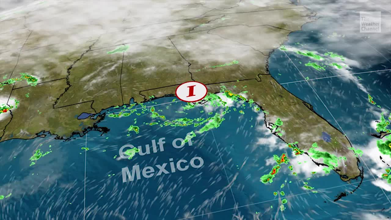 Low-Pressure System Soaking the Southeast