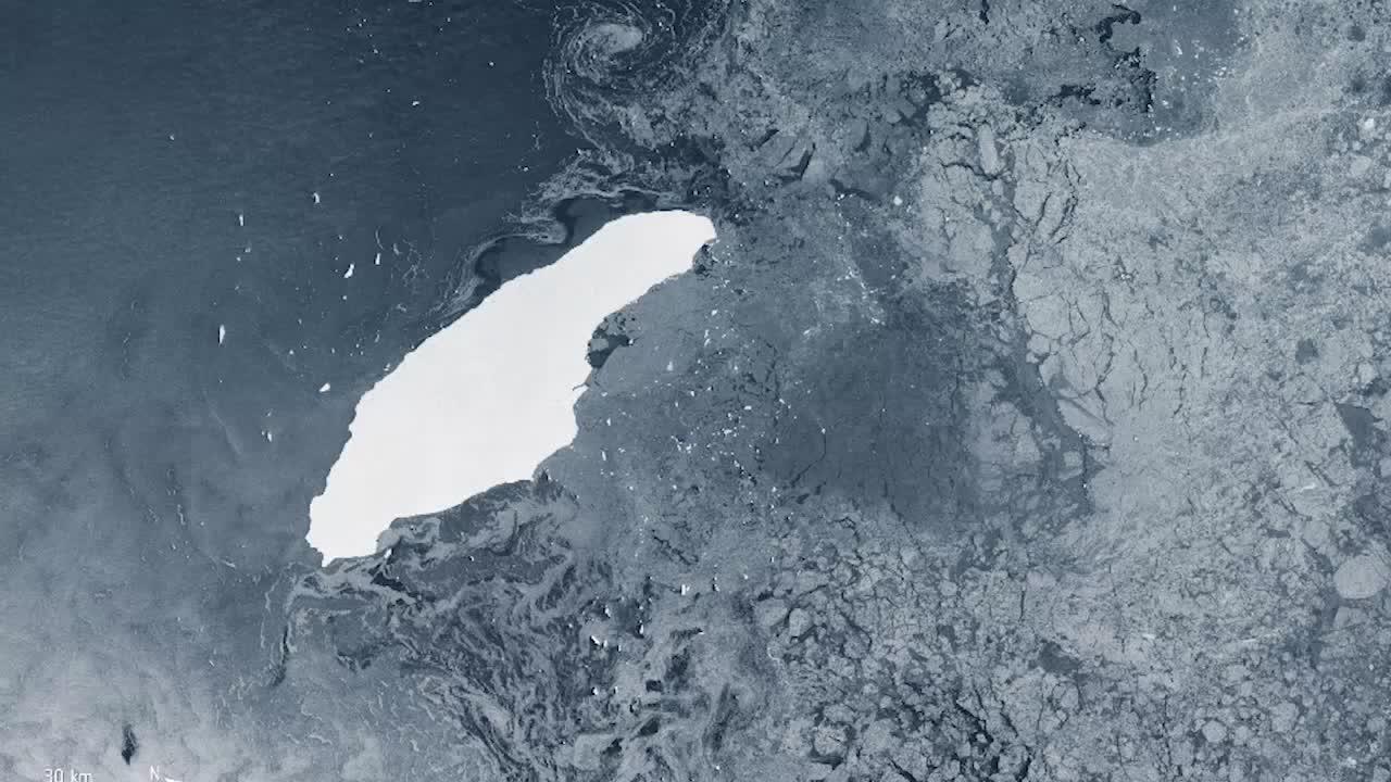 World's Largest Iceberg Drifting Toward South America, Picking up Speed