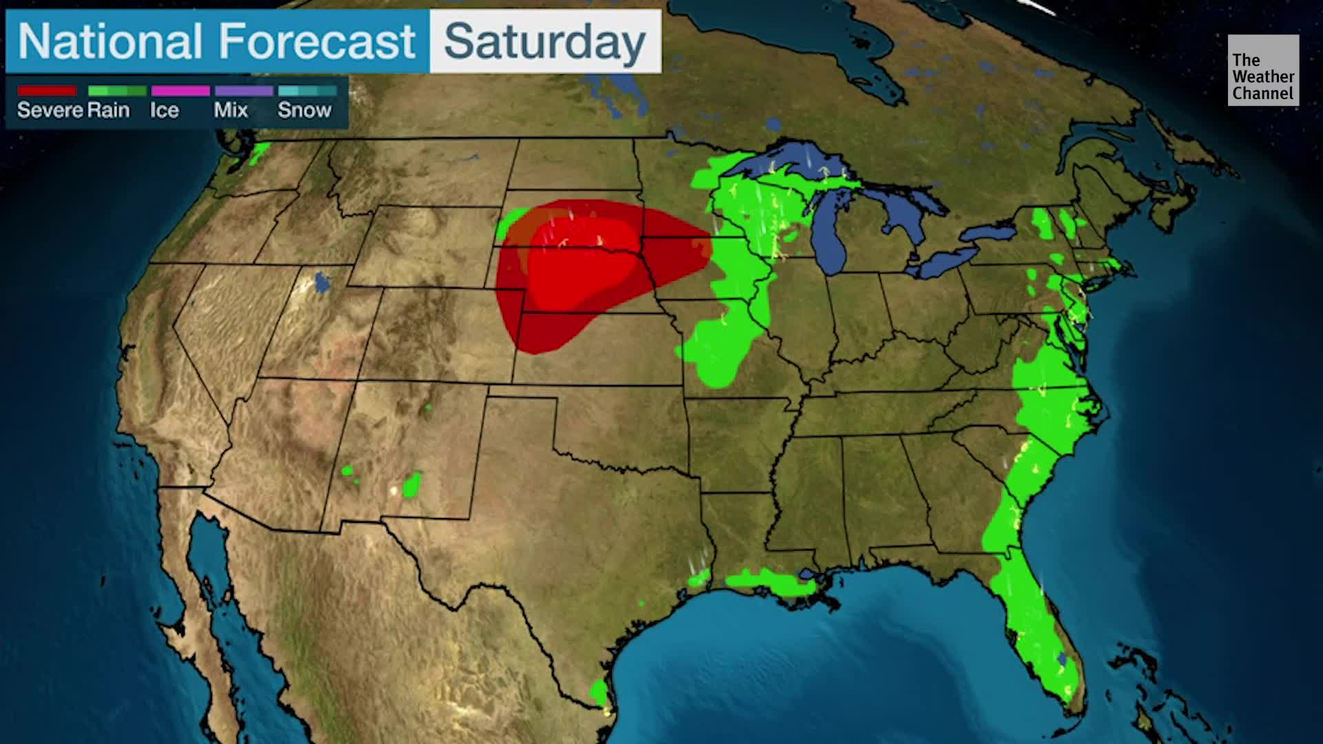 National Weekend Forecast